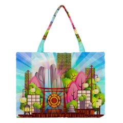 Zen Garden Japanese Nature Garden Medium Tote Bag