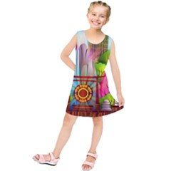 Zen Garden Japanese Nature Garden Kids  Tunic Dress