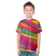 Colorful Background Kids  Cotton Tee