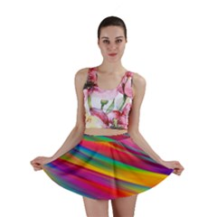 Colorful Background Mini Skirt
