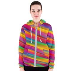 Colorful Background Women s Zipper Hoodie