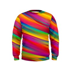 Colorful Background Kids  Sweatshirt
