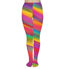 Colorful Background Women s Tights