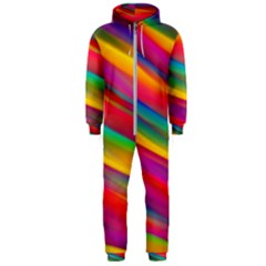 Colorful Background Hooded Jumpsuit (men)