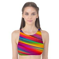 Colorful Background Tank Bikini Top