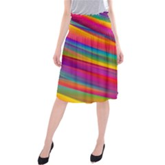 Colorful Background Midi Beach Skirt