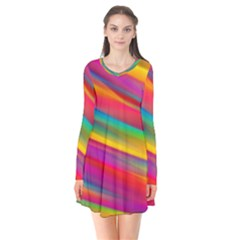 Colorful Background Flare Dress
