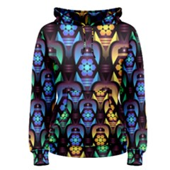 Pattern Background Bright Blue Women s Pullover Hoodie