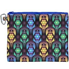 Pattern Background Bright Blue Canvas Cosmetic Bag (xxxl)