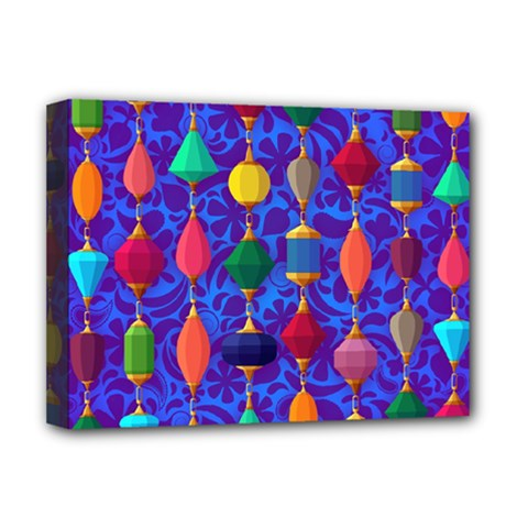Colorful Background Stones Jewels Deluxe Canvas 16  X 12