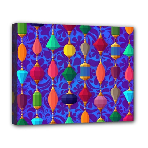 Colorful Background Stones Jewels Deluxe Canvas 20  X 16   by Nexatart