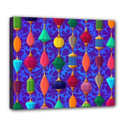 Colorful Background Stones Jewels Deluxe Canvas 24  X 20
