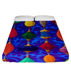 Colorful Background Stones Jewels Fitted Sheet (king Size)