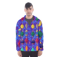 Colorful Background Stones Jewels Hooded Wind Breaker (men)