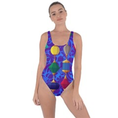 Colorful Background Stones Jewels Bring Sexy Back Swimsuit