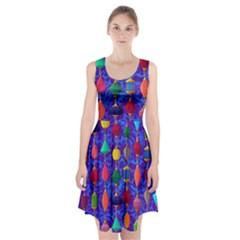 Colorful Background Stones Jewels Racerback Midi Dress