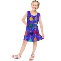 Colorful Background Stones Jewels Kids  Tunic Dress