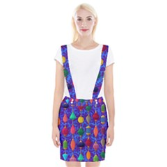 Colorful Background Stones Jewels Braces Suspender Skirt