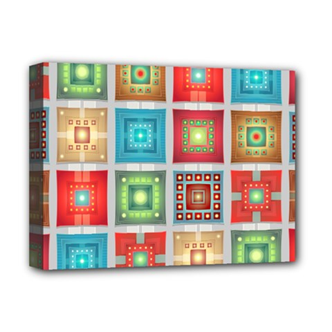 Tiles Pattern Background Colorful Deluxe Canvas 16  X 12
