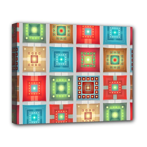Tiles Pattern Background Colorful Deluxe Canvas 20  X 16