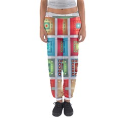 Tiles Pattern Background Colorful Women s Jogger Sweatpants