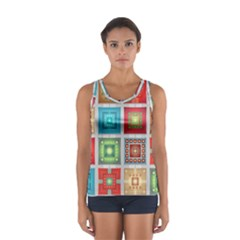 Tiles Pattern Background Colorful Sport Tank Top