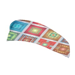 Tiles Pattern Background Colorful Stretchable Headband