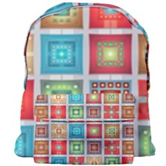 Tiles Pattern Background Colorful Giant Full Print Backpack