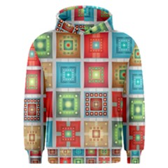 Tiles Pattern Background Colorful Men s Overhead Hoodie