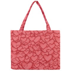 Background Hearts Love Mini Tote Bag