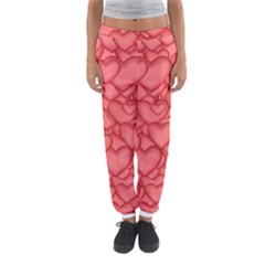 Background Hearts Love Women s Jogger Sweatpants