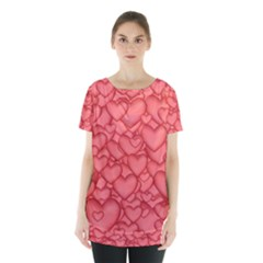 Background Hearts Love Skirt Hem Sports Top by Nexatart