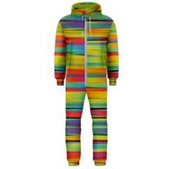 Colorful Background Hooded Jumpsuit (men)