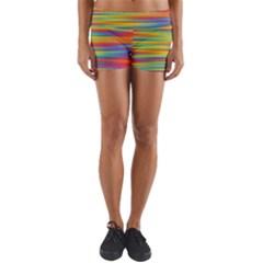 Colorful Background Yoga Shorts