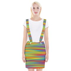 Colorful Background Braces Suspender Skirt