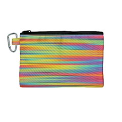 Colorful Background Canvas Cosmetic Bag (medium) by Nexatart