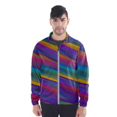 Colorful Background Wind Breaker (men)