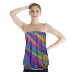 Colorful Background Strapless Top