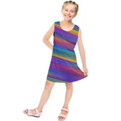 Colorful Background Kids  Tunic Dress