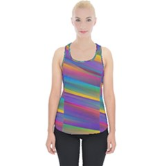 Colorful Background Piece Up Tank Top