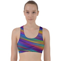 Colorful Background Back Weave Sports Bra
