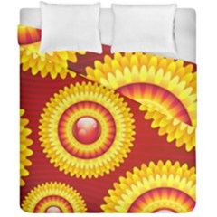 Floral Abstract Background Texture Duvet Cover Double Side (california King Size)