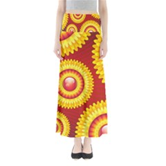 Floral Abstract Background Texture Full Length Maxi Skirt