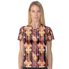 Seamless Pattern Patterns V Neck Sport Mesh Tee