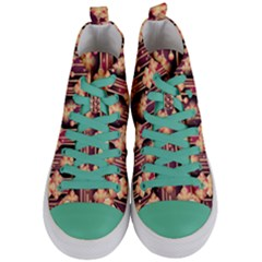 Seamless Pattern Patterns Women s Mid Top Canvas Sneakers