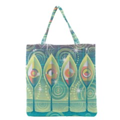 Background Landscape Surreal Grocery Tote Bag