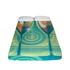 Background Landscape Surreal Fitted Sheet (full/ Double Size) by Nexatart