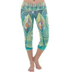 Background Landscape Surreal Capri Yoga Leggings