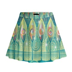 Background Landscape Surreal Mini Flare Skirt