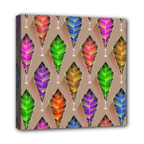 Abstract Background Colorful Leaves Multi Function Bag
